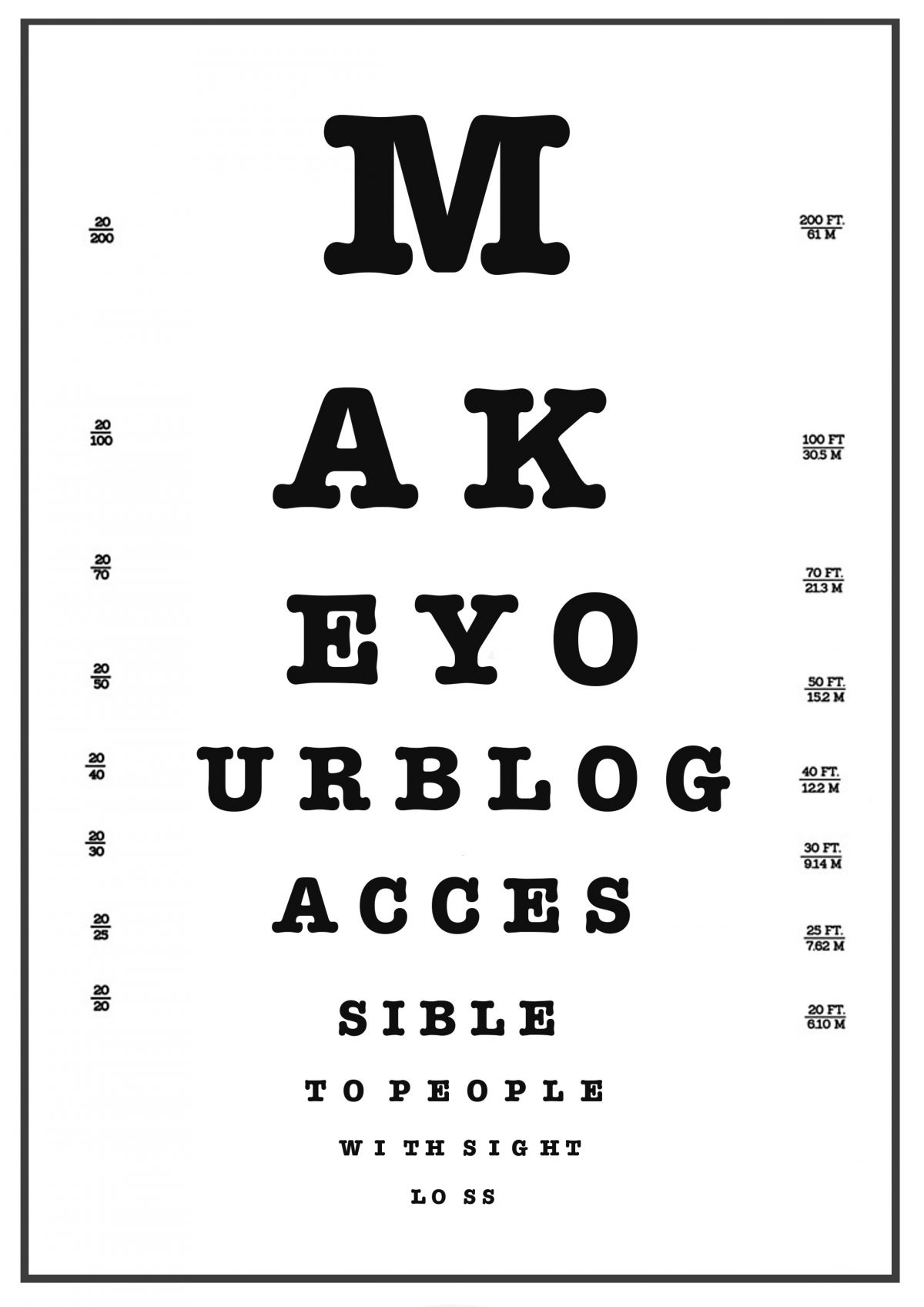 Making your #Scicomm blog more accessible to people with sight loss
